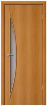 Дверь ламинированная межкомнатная ПО Луна Миланский орех