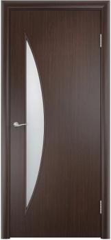 Дверь ламинированная межкомнатная ПО Луна Венге