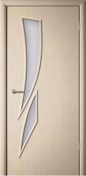 Дверь ламинированная межкомнатная ПО Стрелиция Беленый дуб