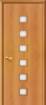 Дверь ламинированная межкомнатная ПО Квадрат Миланский орех