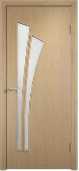 Дверь ламинированная межкомнатная ПО Лагуна беленый дуб